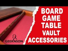 Board Game Table - accessories for your game space - YouTube
