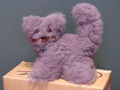 Stuffed cat from E.Germany