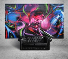 "Finish the ""man cave"" this weekend? We have the perfect piece to pull it all together. Check out our street-art reproductions at www.suumosurface.com"
