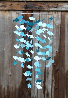 Blue Fish Mobile by byAllySen on Etsy, $45.00