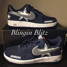 Mens Dallas Cowboys AF1 by BlinginBlitz on Etsy Dallas Cowboys 6d88a21a6