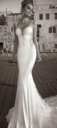 Sexy Mermaid Wedding Dress Sleeveless Backless Lace Applique Formal Bridal Gown in Wedding Dresses | eBay
