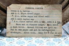 A classic vintage recipe from the files - Pinwheel Cookies