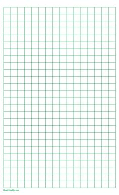 Printable Half Inch Green Graph Paper for Legal Paper Graph Paper, Printable Paper, Free Printables, Templates, Green, Yard Landscaping, Cross Stitch, Stencils, Free Printable