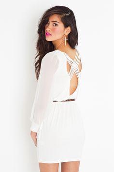 Lily Lattice Dress - Ivory