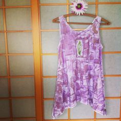 Handmade Hawaiian  Cotton Tunic Top  Plus Size by PetrinaBlakely