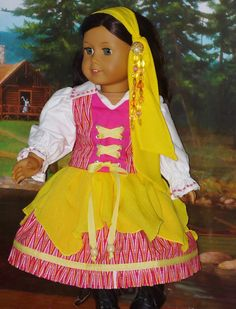 Gypsy Halloween Costume for Dolls Fits by CSBSewsDollClothes