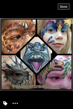 Monster face painting  Www.facial-attraction.co.uk