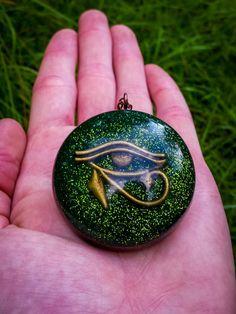 Orgonite Eye Of Horus Necklace  Free Shipping by FountainOfSpirit