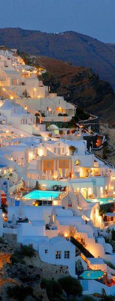 #santorini   #grecia   #sera