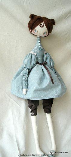 """Купить интерьерная кукла """"Мышка Джейн"""" - подарок для девушки, интерьерная кукла, Декор, серый"""