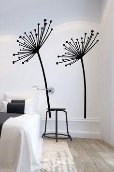 Wall Decals  Dandelion Seeds Flower, Wind, Summer-WALLTAT.com Art Without Boundaries