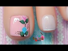Nail Art Videos, Toe Nails, How To Do Nails, Pedicure, Nail Designs, Lily, Toenails, Nail Stickers, Nail Bling