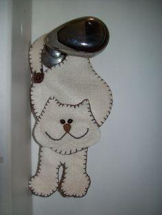 Gato para enfeitar porta