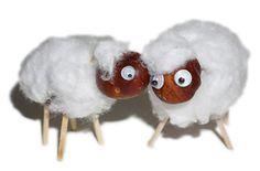 Kastanienmännchen: Schaf aus Kastanien zum Basteln mit Kindern - Anleitung im Blog von Makerist.de