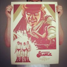 Clockwork Orange Fan Art Poster by Paul Ainsworth, via Behance