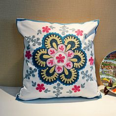 summer style cotton car covers Embroidery pillow cover cushion cussion decoration cushions home decor decorative throw pillows 0