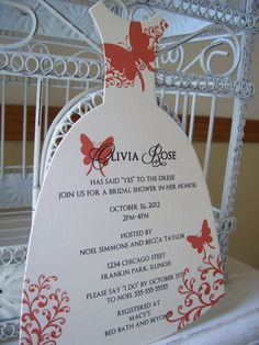 Fall Swirl Butterfly Bridal Shower by BeautifullyInviting on Etsy, $2.20