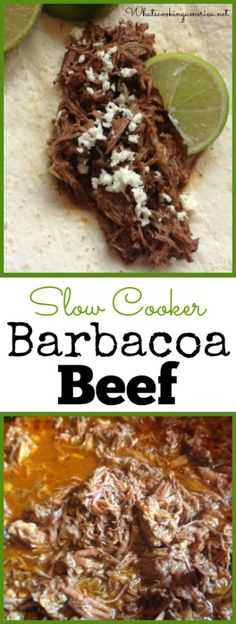 Slow Cooker Barbacoa Beef - Chipotle's copycat recipe