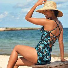 Jednodielne plavky Tiria, s kosticami | blancheporte.sk #blancheporte #blancheporteSK #blancheporte_sk #swimsuit #plavky Tankini, Bikini Poses, Bikinis, Swimwear, Tommy Hilfiger, One Piece, Outfits, Armatures, Products