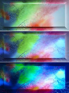 Luminescent painting ARGENTA 2 ● 2014, canvas   acrylic, daylight and UV light • Painting Ideas   Home Decor   Art   Art Ideas   Contemporary Art   Abstract Art   Fine Art • Available on Etsy •