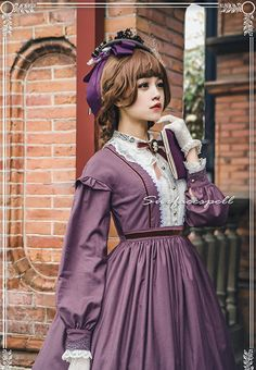 Surface Spell -The Rose Given by God- Vintage Victorian Style Lolita OP Dress