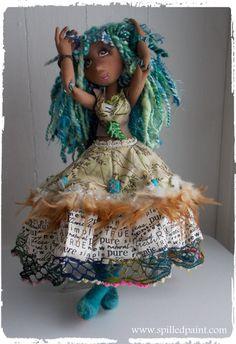 NakomaSoft Sculpture Doll OOAK Handmade Art Doll by spilledpaint, $189.00