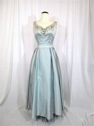 Baby blue wedding dress 40s #weddingdress
