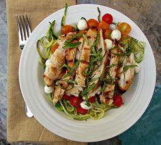 Chicago Jogger: Caprese Chicken Zoodle Bowls.
