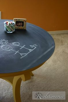 Yeah, some day I'll make my own chalkboard table