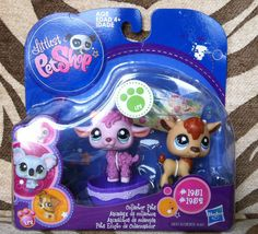 ✿RETIRED✿NEW✿LITTLEST PET SHOP✿1951 & 1952✿CURLY LAMB and GOAT✿RARE✿  $20.59