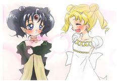 Sailor Moon and Nehelenia
