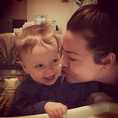 Amy Lee (Evanescence) with her son.