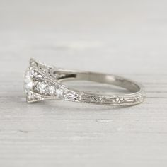 Image of 1.68 Carat Vintage Diamond Engagement Ring
