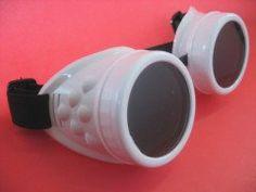 Plain White Goggle minion goggle cyberpunk aviator sunglasses cosplay glasses cyber goggles goggles punk goggles yellow tubing