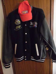 Jacket Elliot Sadler M & M Nascarf Race Jacket with cap #nascar #mmracingteam