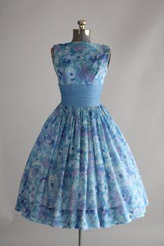1950's Floral Party Dress