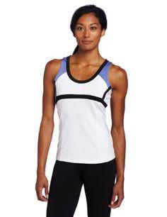 Bollé Women's Jet Stream Color Block Tennis Shell Top, White, Small