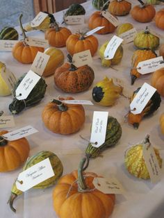 fall wedding place cards - Google Search