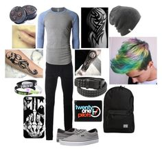 """""""Untitled #432"""" by dino-satan666 ❤ liked on Polyvore featuring Diesel Black Gold, LE3NO, Vans, Coal, Herschel, men's fashion and menswear"""