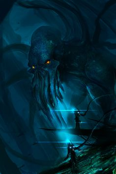 Cthulhu Lives by theDURRRRIAN.deviantart.com [H.P. Lovecraft]