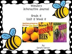 This 5th grade interactive journal is aligned to Common Core and to the McGraw Hill Wonders series for Unit 5-Week 5. This highly INTERACTIVE journal is ideal for teaching all of this week's skills in a powerful, student-friendly way!