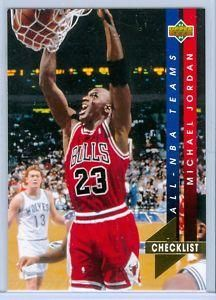 1993-1994 93-94 Upper Deck #AN 15 Michael Jordan All-NBA checklist ---> shipping is $0.01 !!!