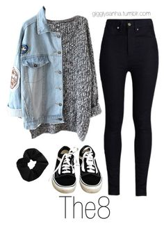 """How they would dress as girls // The8"" by suga-infires ❤ liked on Polyvore featuring Rodarte, Vans and Topshop"