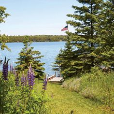 This Lake Huron cottage was built by a wildflower enthusiast who in her later years had planted great swaths of lilies, peonies, lilacs, and ferns just outside the back door. | Coastalliving.com