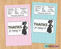 Ready to Pop Baby Shower Popcorn Wrappers by StrasenDesigns, $8.00