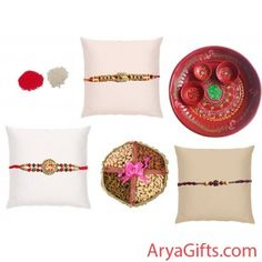 Send the best rakhi wishes to your dearest brother and show how much you will miss them on this Raksha Bandhan. Set of 3 designer Rakhi and Pooja Thali with Dry Fruits (200 gm).Rakhi design may differ as per the stock available. We offer free pack of Roli & Chawal along with Rakhis.