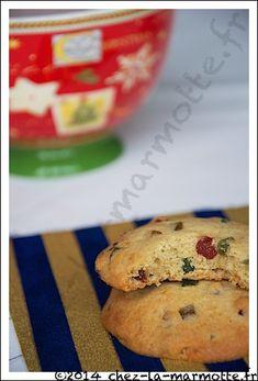 Cookies aux fruits confits
