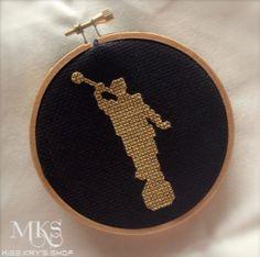 Medium Angel Moroni Cross Stitch Pattern