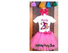 Dora the Explorer SPARKLE TUTU PRINCESS HAIR BOW TSHIRT ADD NAME AGE 2T 3T 4T 5 #BirthdayPartyShop #birthdayparty